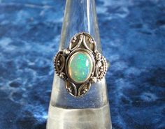 Hey, I found this really awesome Etsy listing at https://www.etsy.com/listing/476994083/sz-7-bluish-green-natural-fire-opal-oval