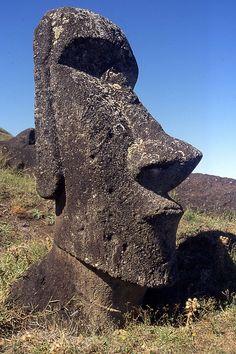 Moai on Rapa Nui, Easter Island, Chile