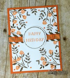 Simple Birthday Card using Stampin' Up Numbers For You & Perfectly Wrapped.  Katina Martinezu