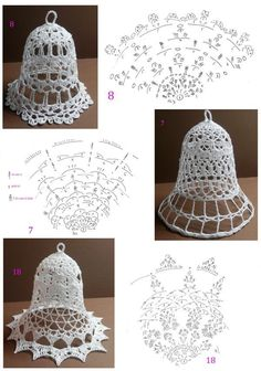 Discover thousands of images about Crochet Christmas Decorations, Crochet Christmas Ornaments, Crochet Decoration, Christmas Knitting, Christmas Bells, Crochet Snowflake Pattern, Christmas Crochet Patterns, Crochet Snowflakes, Crochet Chart