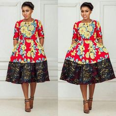 Lovely Ankara Short Gown and Lace Combinations Styles. Lovely Ankara Short Gown and Lace Combinations Styles African Print Dresses, African Print Fashion, Africa Fashion, African Fashion Dresses, African Attire, African Wear, African Women, African Dress, Fashion Prints