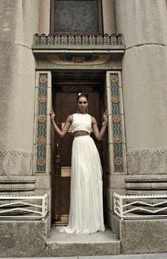 30 Trendy Beautiful Crop Top Bridal Outfits   Weddingomania