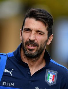 Gianluigi Buffon of Italy looks on prior to the training session at the club's training ground at Coverciano on November 7, 2016 in Florence, Italy.