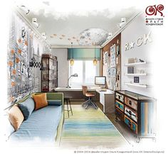 Дизайн детской комнаты для мальчика. Фото 2016 - http://www.ok-interiordesign.ru/ph_dizain-detskoy-komnaty.php