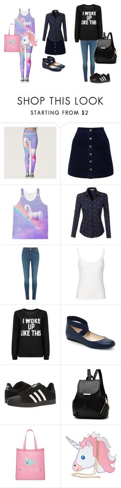 """""""Will be split into better descriptions"""" by lilonehelps ❤ liked on Polyvore featuring Miss Selfridge, LE3NO, River Island, Jessica Simpson, adidas and Forever 21"""