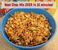 Best Chex Mix EVER - done in 15 minutes