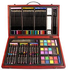 Nicole Studio Art Craft Supplies Set in Wood Box for Drawing and Painting 79 Piece Multi Colors >>> To view further for this item, visit the image link. Pencil Painting, Artist Painting, Arts And Crafts Supplies, Art Supplies, Drawing Letters, Wooden Art, Paint Set, Wood Boxes, Best Artist