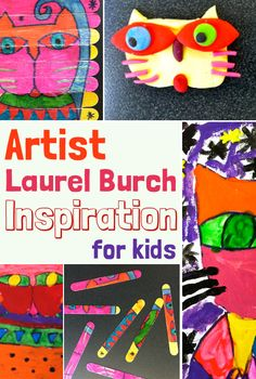 Artist Laurel Burch – Inspiration for Kids Laurel Burch is a fantastic artist to inspire kids to create. You can read all about her here. I did three Laurel Burch inspired projects Laurel Burch, Artists For Kids, Art For Kids, 2nd Grade Art, Artist Project, Middle School Art, High School, Art Lessons Elementary, Inspiration For Kids