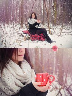 #winter #girl #tea #mug #red  #photography #petfruska