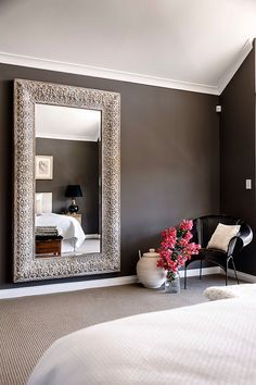 I Love Giant Mirrors Because I Hate Over Decor So The Easiest Ways To Play  With Light And Look Classy Are With Big Mirrors