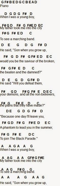 Flute Sheet Music: My Chemical Romance IM CRYING