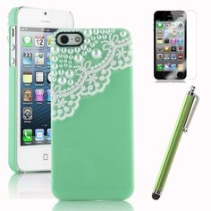 Pandamimi Deluxe Mint Green Fashion Sweety Girls Hand Made 3D Lace and Pearl Hard Case Cover for iPhone 5 5G with Screen Protector and Stylus by Pandamimi. $6.99. Package: One iPhone 5 5Gcase, Stylwire(TM) Pink Heart Stereo Headphones, one Screen Protector, cleaning cloth, Application card, one stylus. Stylwire(TM) is my own brand from Pandamimi. you may counterfeit products from other sellers below us.