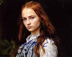 SOPHIE TURNER (Game of Thrones) 8x10 Female Celebrity Photo Signed In-Person