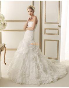 Coda a Strascico Cappella Senza Spalline Elegante Abiti Da Sposa 2014