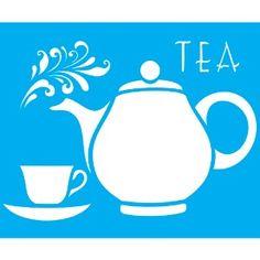 Stencil-para-Pintura-20x15-Tea-Bule-LSM-001---Litocart