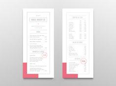 121 best food drink menu design inspiration images on pinterest