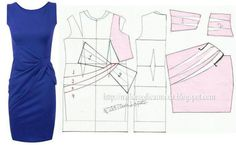 for me to use when I'm exploring flat pattern drafting. Sewing Patterns Free, Sewing Tutorials, Clothing Patterns, Dress Patterns, Diy Clothing, Sewing Clothes, Fashion Sewing, Diy Fashion, Female Fashion