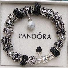 Authentic Pandora Bracelet with European Beads by ExquisiteAellas, $89.99