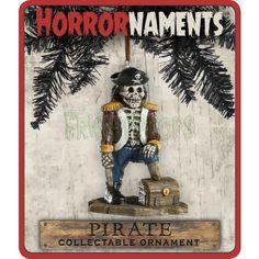 Pirate Skeleton Christmas Ornament - Horrornaments!