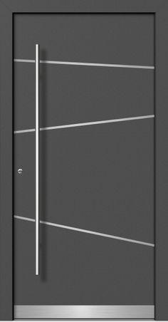 haustüren aluminium | Moderne Holz-Aluminium Haustüren direkt vom Fachbetrieb mit Aufmaß ... Single Door Design, Front Door Design Wood, Door Gate Design, Wooden Door Design, Modern Entrance Door, Modern Exterior Doors, Modern Front Door, Aluminium Door Design, Aluminium Glass Door