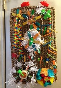 Great and creative use of a seagrass mat to create an activity center!