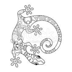 Vector Tribal Decorative Lizard royalty-free stock vector art
