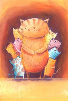 all the Meows gathered here: Greeting Cards II by Monika Filipina Trzpil