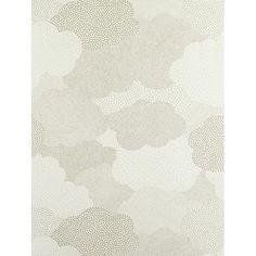 Papier peint à motifs Nuages gris. Collection Arc-en-ciel par Casadeco Rouleau 53 cm x 10.05 m