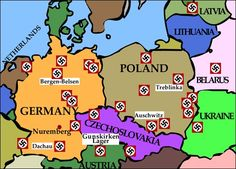 Daily News History Films Pinterest - Germany map of concentration camps