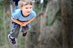 kid photos - playground swings are his favorite!