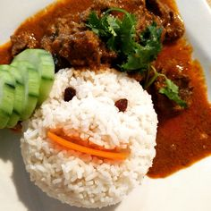 A little smile to brighten your day! #asianspicycurry #curry #smile #rice #beef #yummy #happy #dish #summer #eeeeeats #nyceats #chintatown #nyc #eater #foodstagram #newforkcity