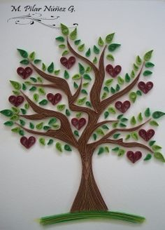 Crea Quilling : Tree of Hearts