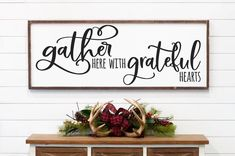 Gather Here with Grateful Hearts Large Framed Farmhouse Style Sign – Love Buil. Gather Here with Grateful Hearts Large Framed Farmhouse Style Sign – Love Built Shop Modern Wall Decor, Room Wall Decor, Dining Wall Decor Ideas, Kitchen Decor, Kitchen Art, Dining Room Walls, Living Room, Farmhouse Bedroom Decor, Room Signs