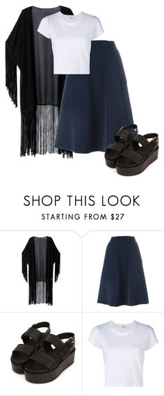 Winter bird by yaykpx on Polyvore featuring moda, RE/DONE, WithChic and Lanvin
