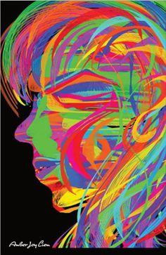 Epilepsy Black Light Poster by AmberJoyLiemArtShop on Etsy