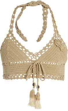Jannah skirted crochet bikini top