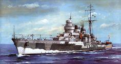 Italian Light Cruiser Giussepe Garibaldi