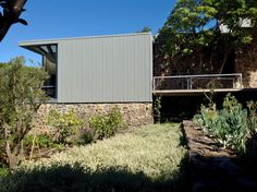 zinc house stellenbosch south africa slee&co architects www.slee.co.za South African Homes, Steel Buildings, Cladding, Architects, Architecture Design, Sink, Stairs, Farmhouse, Contemporary