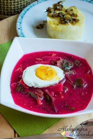 Przepisy Aleksandry: BOTWINKA i Swiss chard , silver beet, silverbeet, seakale beet - This soup is delicious, garnish whit hard boiled egg ohhh.nothing better Soup Recipes, Dinner Recipes, Cooking Recipes, Healthy Recipes, Polish Soup, Poland Food, Food Experiments, Tasty, Yummy Food