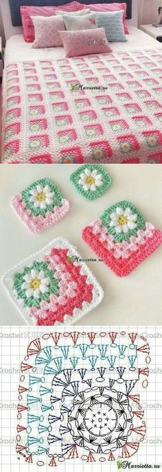 Transcendent Crochet a Solid Granny Square Ideas. Wonderful Crochet a Solid Granny Square Ideas That You Would Love. Crochet Blocks, Crochet Squares, Crochet Blanket Patterns, Crochet Afghans, Crochet Granny, Crochet Motif, Crochet Designs, Crochet Stitches, Knitting Patterns
