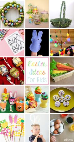 Kids have good reason to be excited about Easter: It's a holiday devoted to finding hidden treasures and an excuse to feast on sweets. These crafts include printables, basket decorating and of course coloring eggs! Full list of ideas here: http://www.ehow.com/how_12839_celebrate-easter.html?utm_source=pinterest.com&utm_medium=referral&utm_content=curated&utm_campaign=fanpage