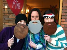 duck dynasty beard booth   Duck Dynasty Photo Prop Wooden Beards - Pack of 3 (Willie, Jase, and ...