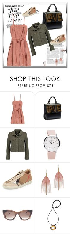 """Easy-peasy, eyelet dress- throw-and-go"" by peeweevaaz ❤ liked on Polyvore featuring Anja, St. Roche, Les Petits Joueurs, rag & bone, Burberry, Serefina, Thierry Lasry, Marni, outfit and dress"