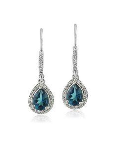 Look what I found on #zulily! London Blue Topaz & Cubic Zirconia Teardrop Earrings #zulilyfinds