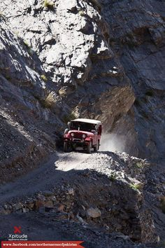 The scary & adventurous jeep track of Fairy Meadows...  For more post like our page: Northern Areas of Pakistan