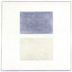 """Painting by Agnes Martin, """"This Rain,"""" 1960 Oil on canvas"""