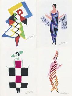 Illustration by Sonia Delaunay. via @Kenny Chang Chang Chang Milano