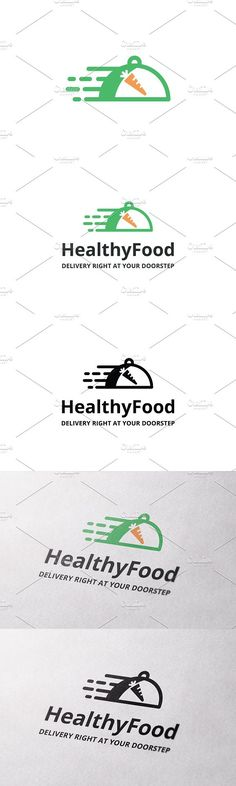 Healthy Food Delivery Logo Template. Logo Templates