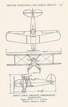 Vintage vliegtuig Diagram afdrukken van de door VintageButtercup