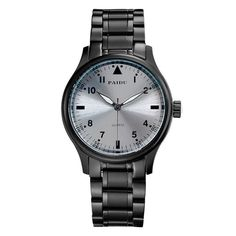 PAIDU Casual Men Wrist Watch Round Dial Analog Quartz-Watch Roman Number Stainless Steel Band Trendy Business Clock Gift